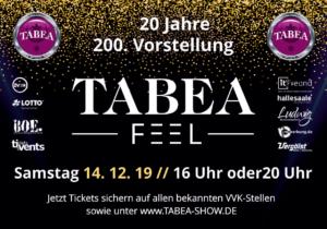 Erster Vorgeschmack Auf TABEA-FEEL, unsere Show am 14.12.2019